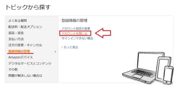 Amazonのアカウント削除-2