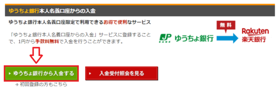 ゆうちょ銀行から楽天銀行に入金する方法と手順9