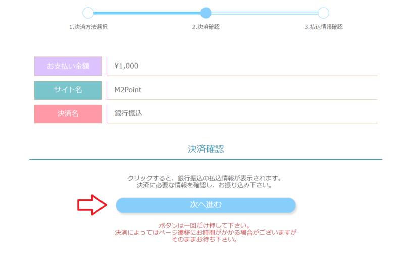 FC2ポイント購入銀行振り込み6